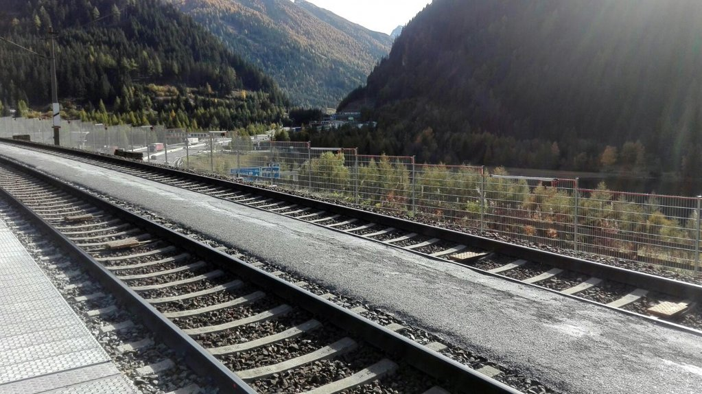 The railway in the Brenner Pass near Seehof, just steps from the border between Italy and Austria. Credit ANSA/LISSI MAIR
