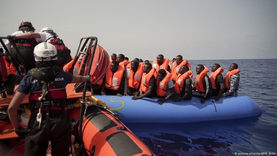 Migrants rescued in the Mediterranean  Photo Picture-allianceAPRBrito