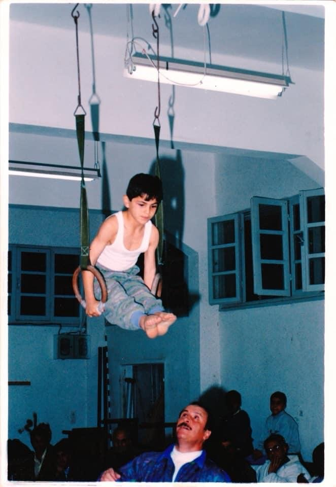 طارق الترك في طفولته في غزة