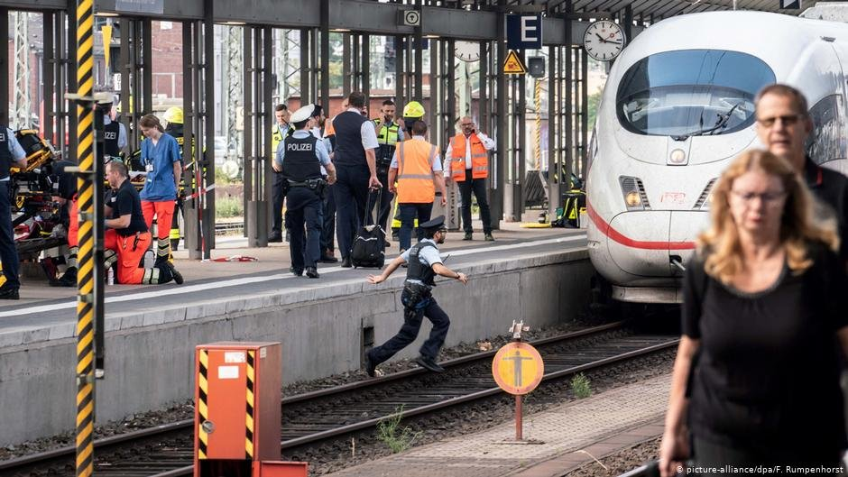 The events at Frankfurts main station shook Germany  COPYRIGHT picture-alliancedpaF Rumpenhorst