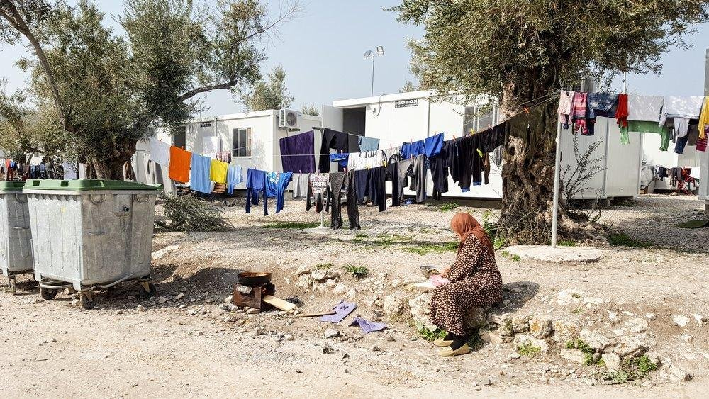 Women at Moria camp Lesvos where being given diapers so they don't have to go to the toilet alone at night   Credit: Doctors without Borders