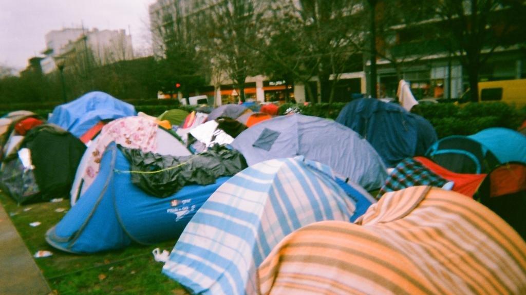 Un campement de rfugis
