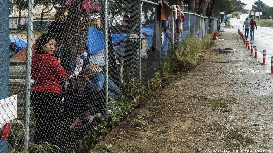 کمپ مهاجران دیافاستا در تاسالونکی یونان، می  ۲۰۱۸