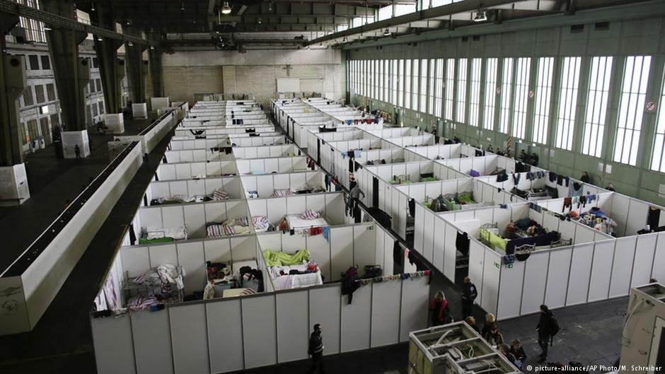 The housing conditions inside the hangars at Tempelhof have repeatedly been criticized