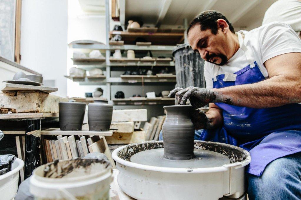 Yaser Elamine en plein travail