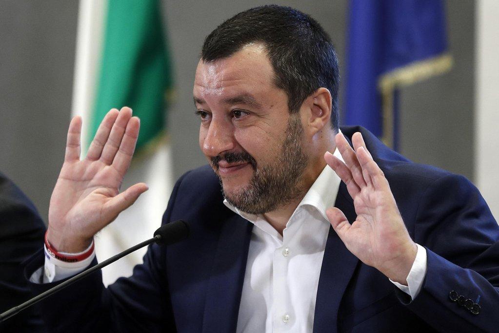 ansa/وزير الداخلية الإيطالي ماتيو سالفيني. المصدر: أنسا / فيمينالي