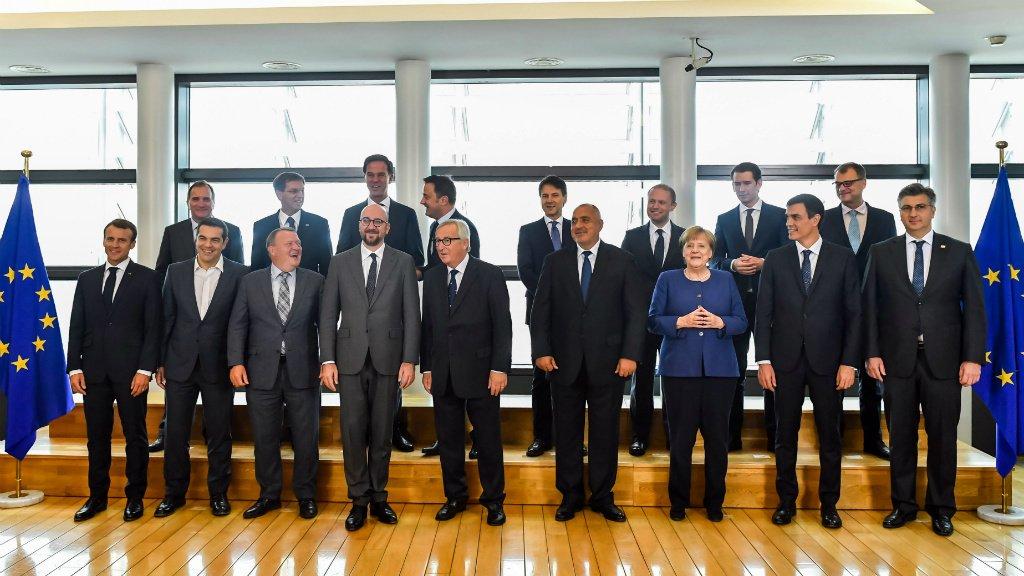 Geert Vanden Wijngaert, AFP  Le Conseil européen se tient à Bruxelles les 28 et 29 juin 2018.