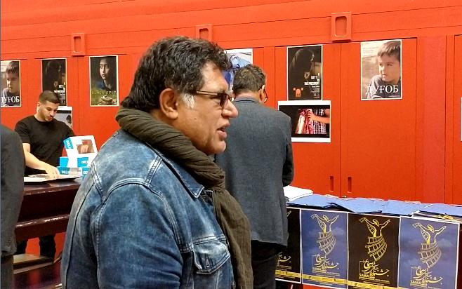 صدیق برمک، سینماگر افغان مقیم فرانسه در جشنواره. عکس از واسع محسن
