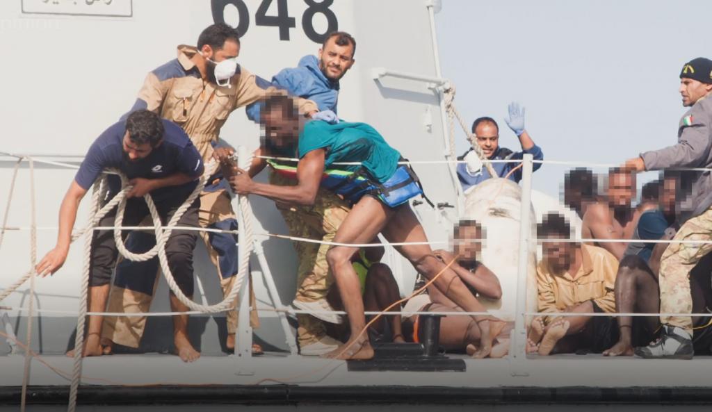 Une capture d'écran de la vidéo produite par le New York Times sur l'opération de sauvetage catastrophique du Ras Jadir en novembre 2017  | Credit : The New York Times/Sea-Watch
