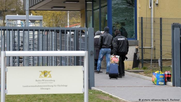 Migrant accomodation in Ellwangen, Germany