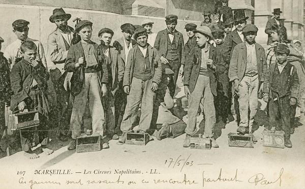 ۱۹۰۳، ایټالوي کډوال ماشومان د فرانسې د مارسۍ په ښار کې، کرېډېټ: د تاریخ او مهاجرت موزیم