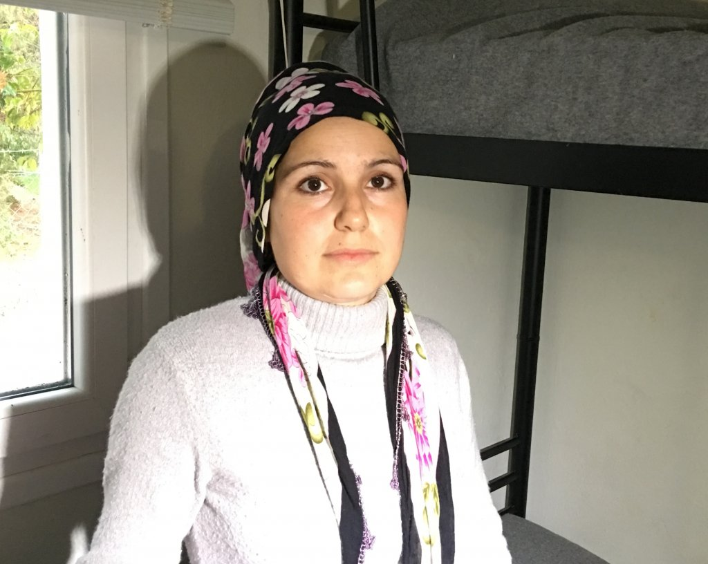 Amina Ismail refugee from Syria-Afrin lives with her family in Kavala-Greece refugee camp