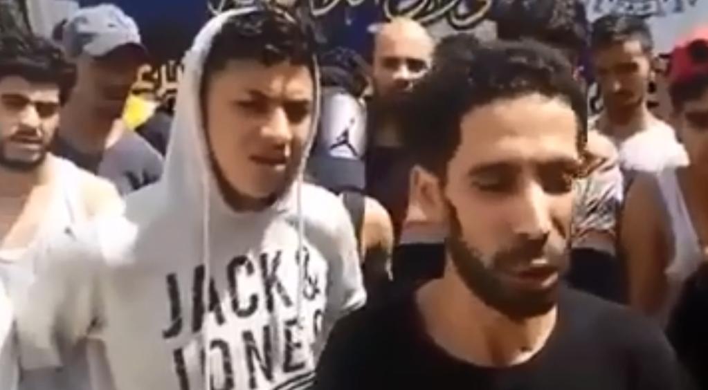 صورة من فيديو نشرت على حساب جهاز مكافحة الهجرة غير الشرعية على فيسبوك