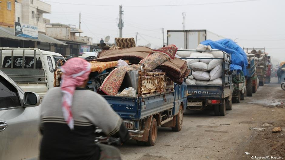 Tens of thousands have been fleeing from Idlib in recent weeks  Photo Reuters
