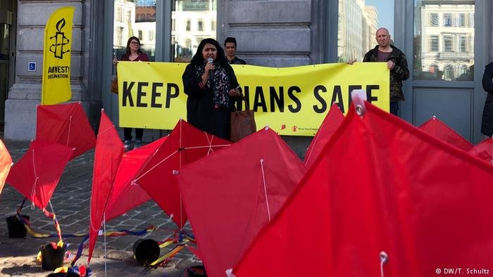 European Parliament in Brussels, Samira Hamidi, Amnesty International | Photo: DW/T.Schulz