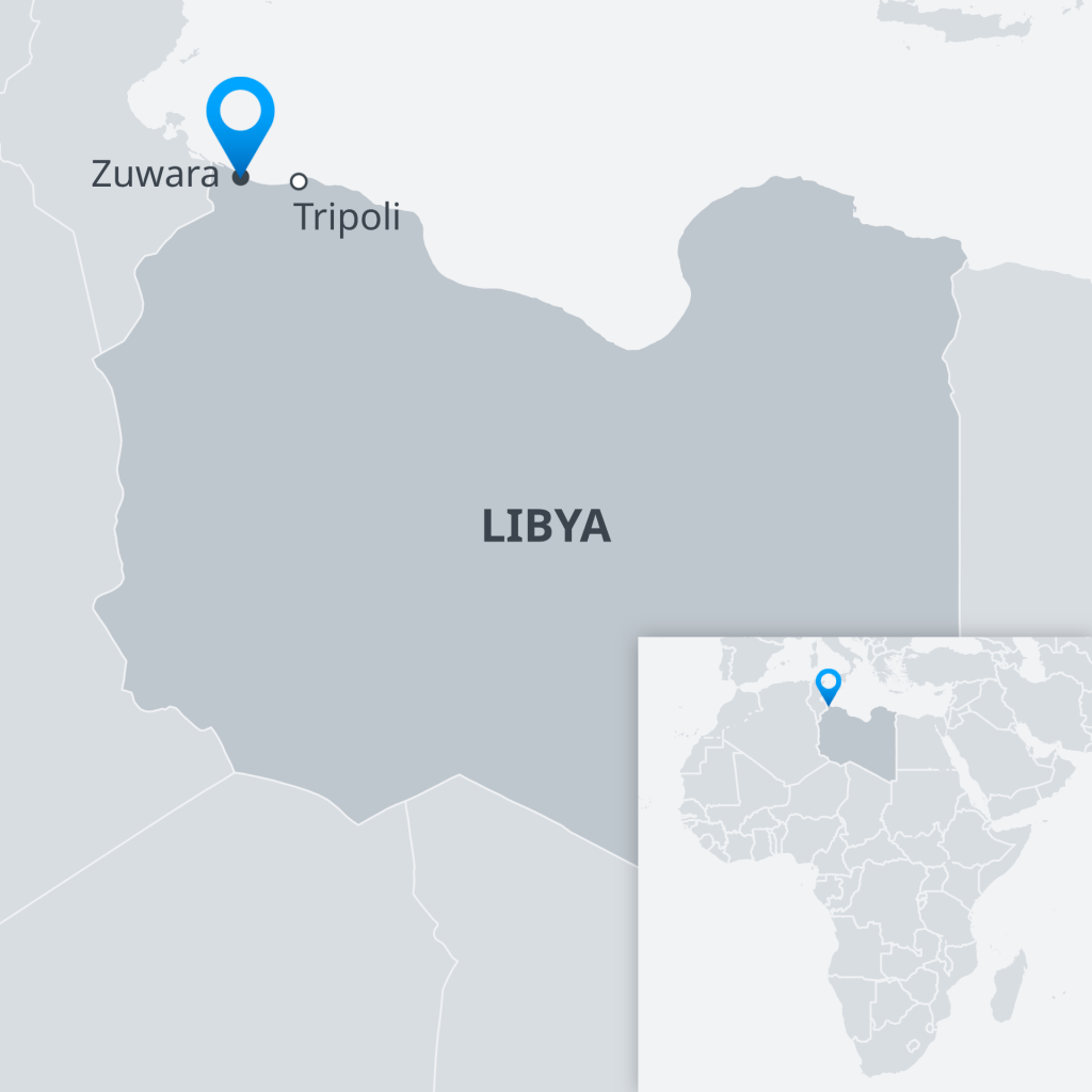 Map of Libya | Credit: DW