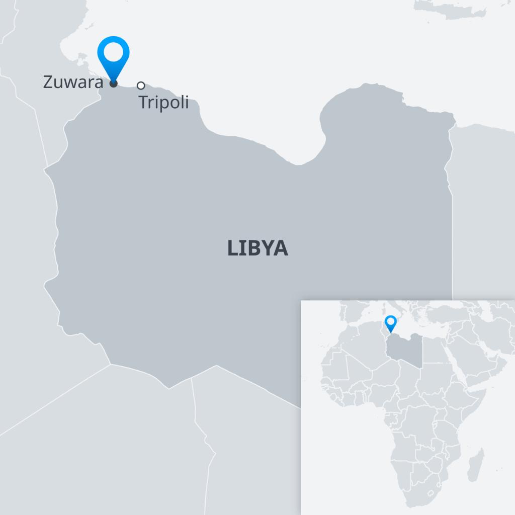 Map of Libya | Credit: DW