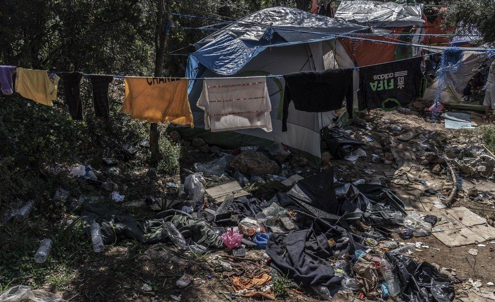 Le camp de Samos, en mars 2019. Crédit : Médecins sans frontières