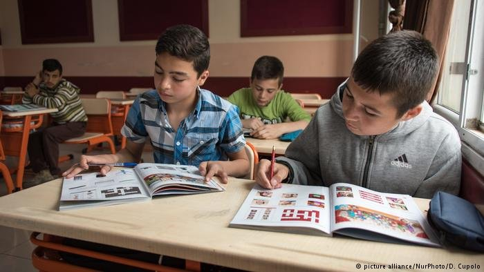 Most Syrian children attend classes at refugee camps rather than Turkish schools