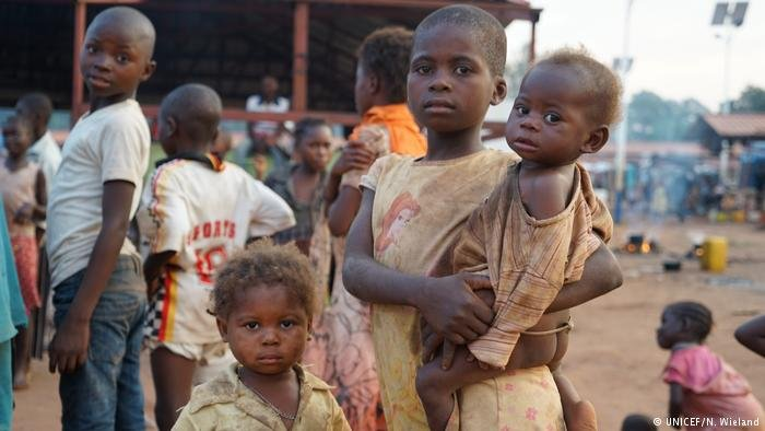 Refugee children from DRC in Angola