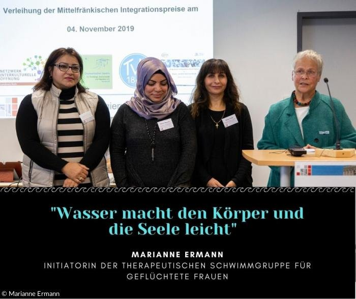 Marianne Ermann receives a regional integration prize in Bavaria on November 4 2019  Copyright M Ermann