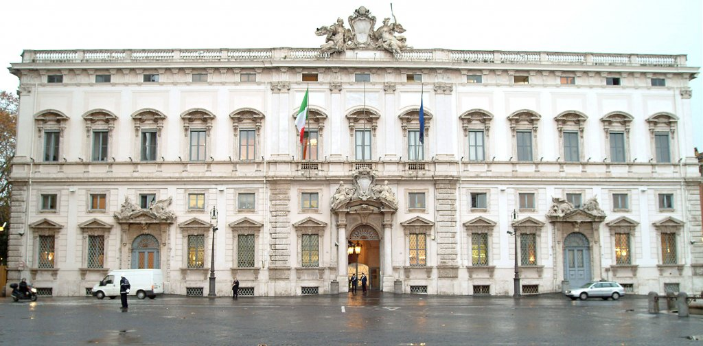The photo shows the building of the Rome Constitutional Court. FOTO/ARCHIVIO/ANSA STEFANO SNAIDERO