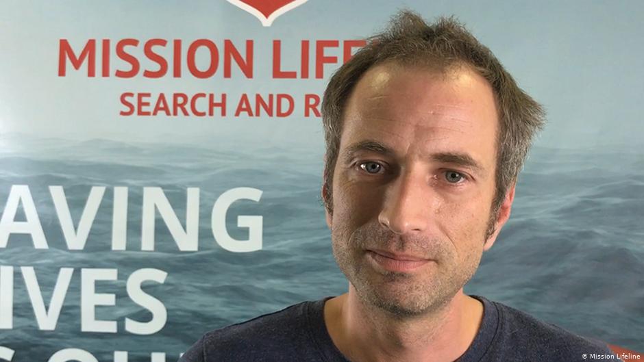 Mission Lifeline spokesman Axel Steier blames the decline in donations on the rhetoric of right-wing populists  Photo Mission Lifeline