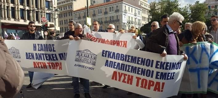 Mayor and residents of Lesvos, Chios and Samos protest over migrant crisis lefimerida, Prime Minister's Twitter