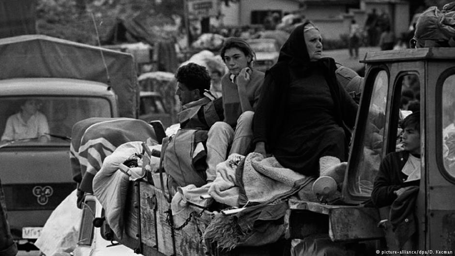 Cette famille serbe bosniaque faisait partie des millions de réfugiés déplacés par les guerres en ex-Yougoslavie.