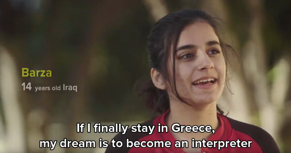 Barza from Iraq talks about her dreams in a UNHCR video about KEDU  Photo Screenshot UNHCR Video 2018