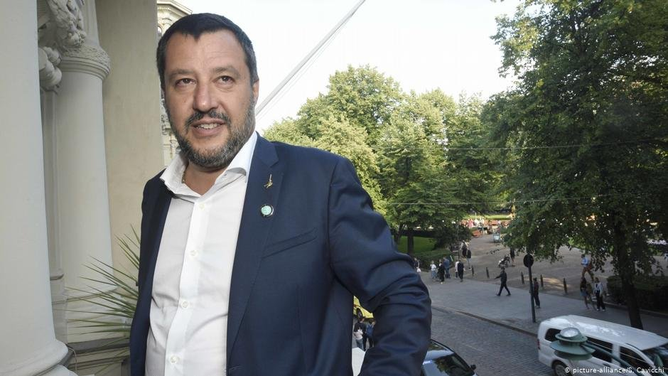 Interior Minister Matteo Salvini does not want migrants to set foot in Italy  COPYRIGHT picture-allianceS Cavicchi