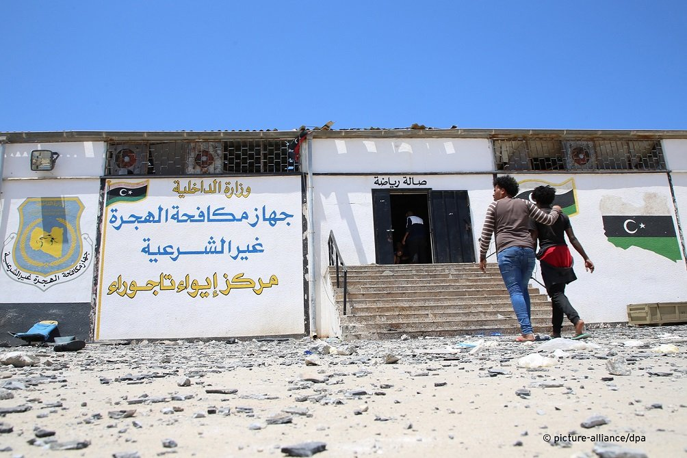 The Tajoura migrant center Libya which was hit by a missile strike on July 3 2019  Photo Hazem Turkiapicture-alliance