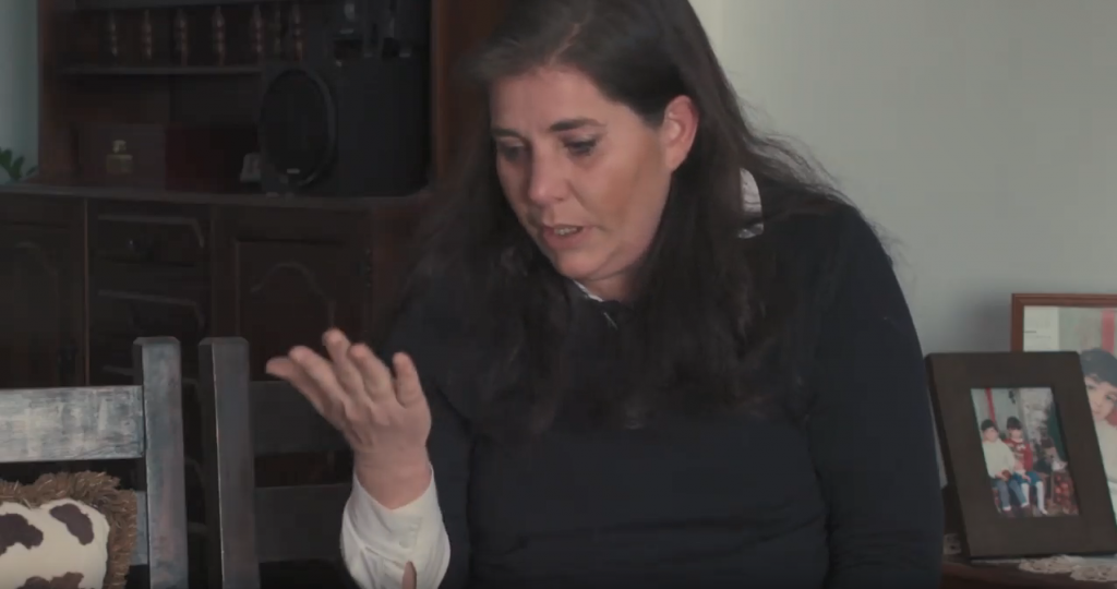 Ahmed's wife Nadia who holds Cypriot and British passports. She has been one of his greatest advocates says Julia Hall from Amnesty International  | Credit: Screenshot from Amnesty International Deutschland film about Ahmed's case from February 2018