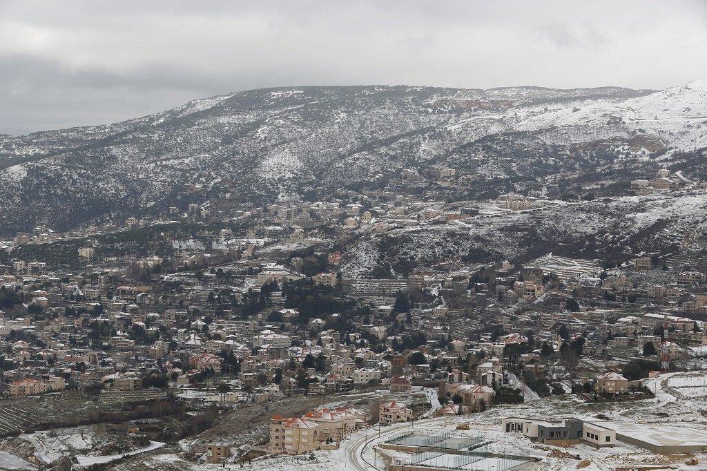 رويترز/ الثلوج تغطي الجبال اللبنانية في 19 كانون الثاني/يناير.