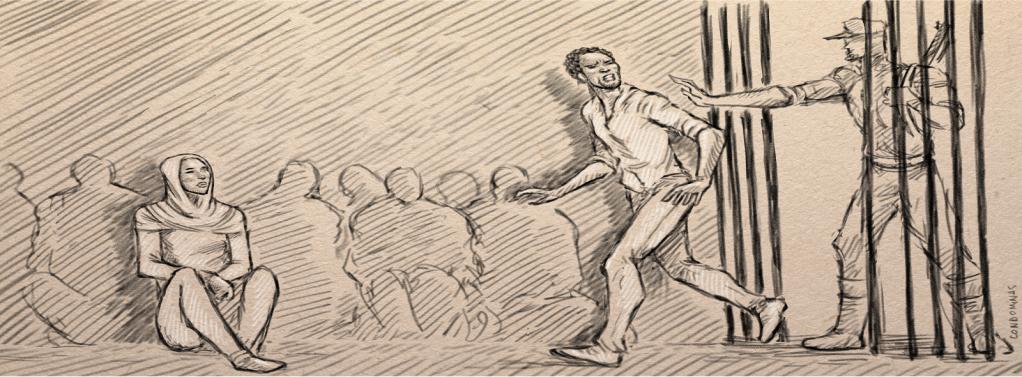 احتجاز جلال داخل مخزن بالقرب من قرية تازربو الليبية