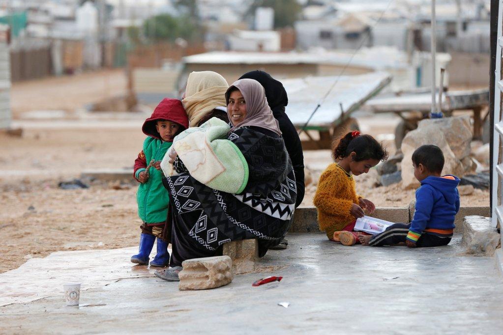 ©REUTERS/Muhammad Hamed |Refugees at Zaatari camp in January 2018