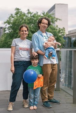 Almirs family are all residents of Bristol and taking part in refugee week in the city  Photo IOM