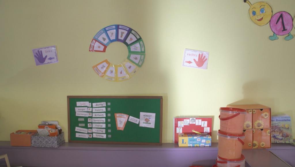 کودکستان این کمپ شادترین محل در این جا است