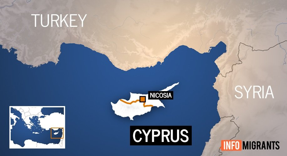 Cyprus is the most eastern EU country and located much closer to Syria and Turkey than the rest of the EU  Credit France24