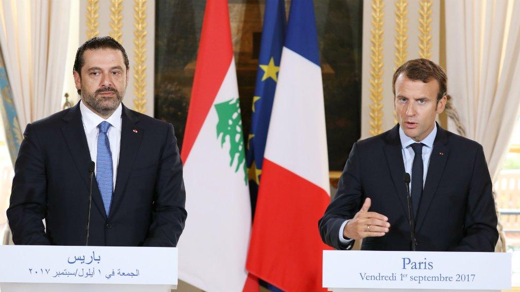 Ludovic Marin, AFP |Emmanuel Macron a souhaité, vendredi 1er septembre, la tenue d'une conférence au Liban sur le retour des réfugiés syriens dans leur pays, à l'issue d'une rencontre à Paris avec le Premier ministre libanais Saad Hariri.