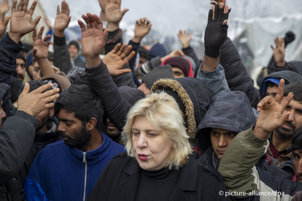 Dunja Mijatovic, European Commissioner for Human Rights, demanded the immediate closure of the Vucjak migrant camp near Bihac, Bosnia in 2019. Conditions in the camp were very poor | Photo: picture-alliance/D. Bandic