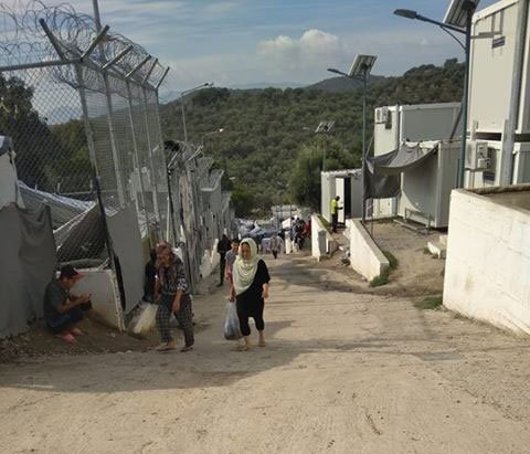 Une vue du camp de Moria  Lesbos Crdit  InfoMigrants