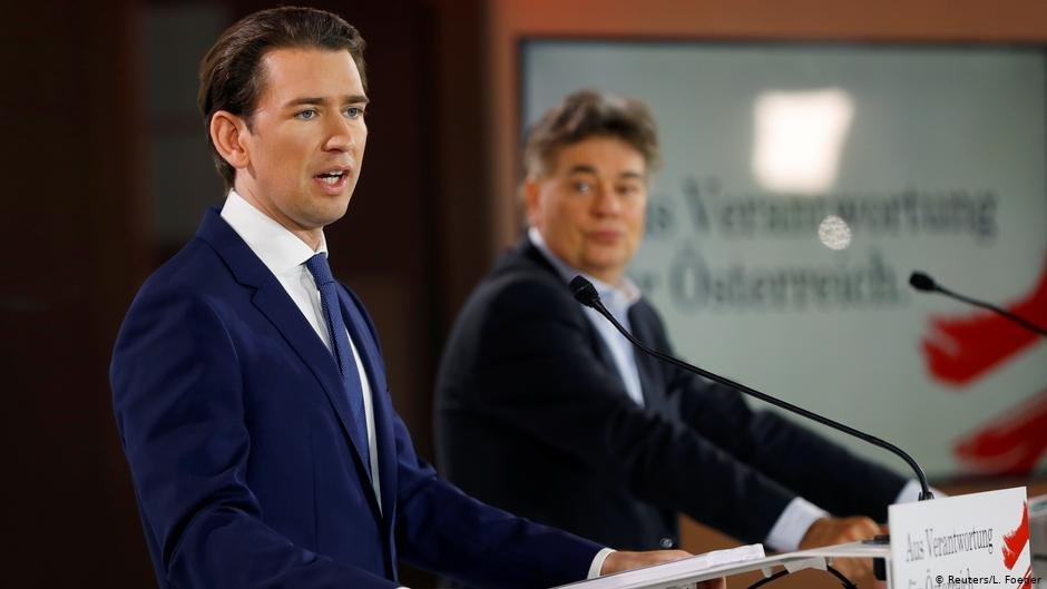Prime Minister Kurz (in front) hopes to clamp down on irregular migration while his deputy, Green Party leader Werner Kogler, espouses less radical views on migration | Photo:  Reuters/L. Foeger