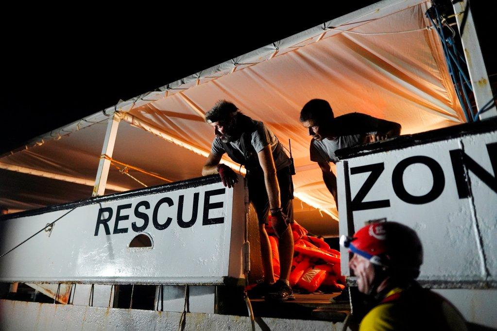 Image d'archive d'un sauvetage de Proactiva Open Arms en Méditerranée. Crédit : Reuters
