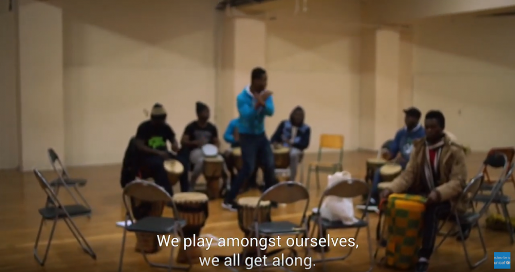 Boubacar is happier now he has been transferred to a hotel in Thessaloniki  Credit Screenshot from UNICEF film Life in Limbo