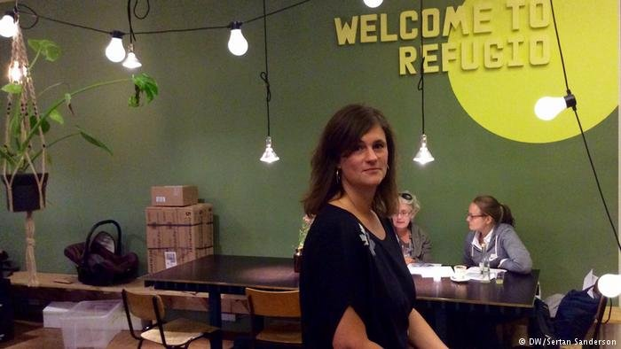 Julia von Schick is in charge of public relations at Refugio Berlin