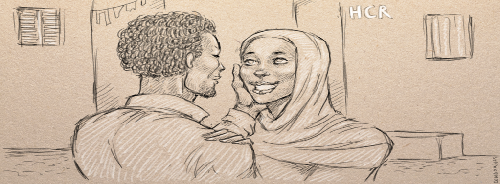 After fleeing, the couple was finally reunited in Tripoli