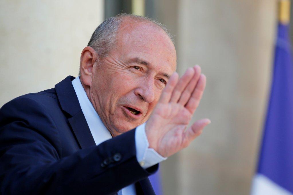 Le ministre français de l'Intérieur Gérard Collomb. Crédit : Reuters