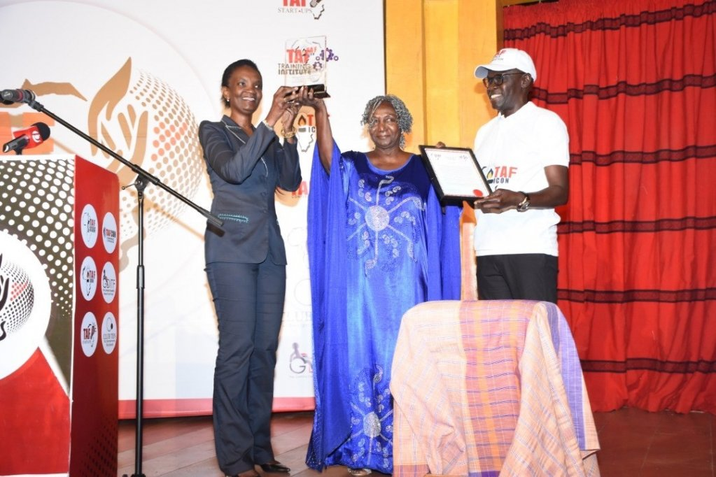 Ms Aissata De UNDP Representative The Gambia Janet Badjan-Young playwright and Mr Mustapha Njie CEO TAF Foundation  Photo with kind permission of Janet Badjan-Young