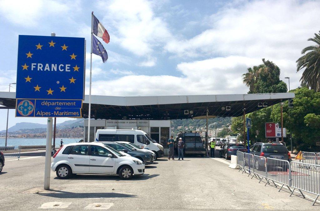 The Italian-French border in Ventimiglia.Photo/ANSA
